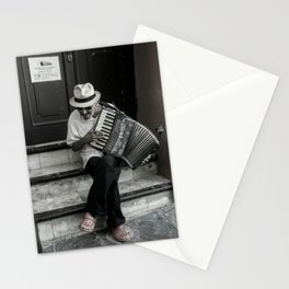 Music on the steps Stationery Cards