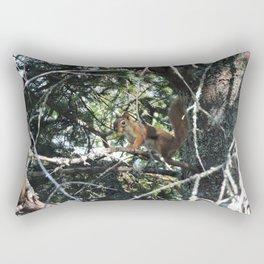 Squirrel in Tree Rectangular Pillow