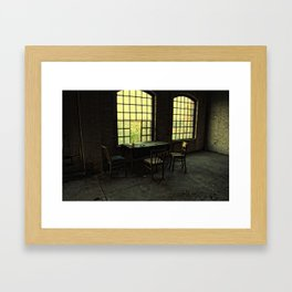 pause of ghosts Framed Art Print