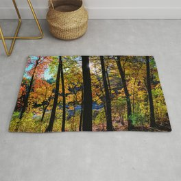 Walden Pond Autumn Forest  in Concord Massachusetts Rug