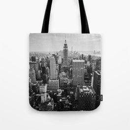Black & White NYC Skyline Tote Bag