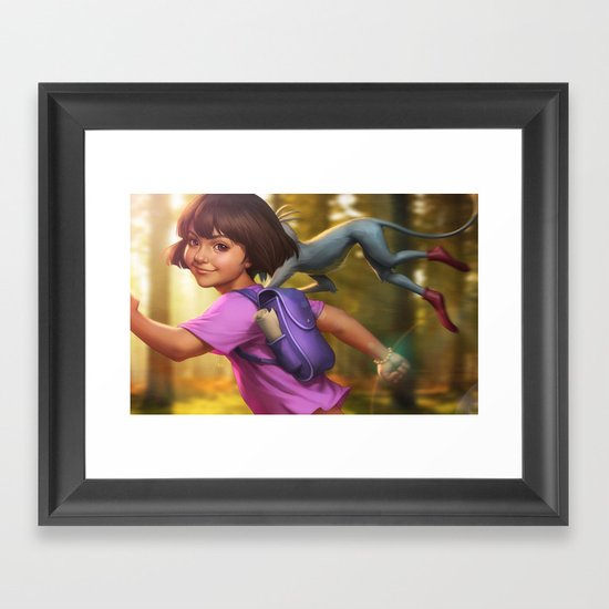The Little Explorer Framed Art Print