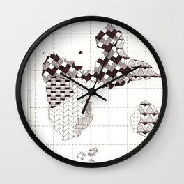 Guadeloupe carte graphic design Wall Clock