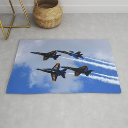 US Navy Blue Angels Rug