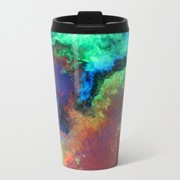 """Titan"" Mixed media on canvas, abstract art painting designs, contemporary artist colorful design Travel Mug"