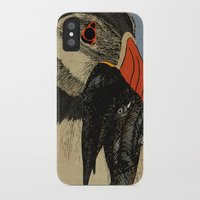 puffin iPhone & iPod Cases featuring Puffin  by EmilyGrantDesign