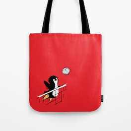 Flying Penguins Tote Bag