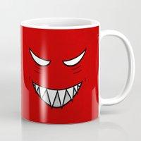 evil Mugs featuring Evil Grin Evil Eyes by Boriana Giormova