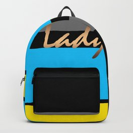 Lady Boss , turquoise ,lemon Backpack