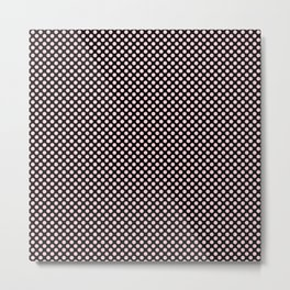 Black and Bridal Blush Polka Dots Metal Print
