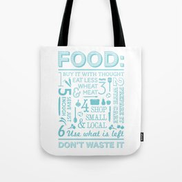Food - blue Tote Bag