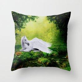 Pegasus By The Stream Throw Pillow