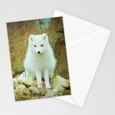 Snow fox Stationery Cards
