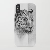 leopard iPhone & iPod Cases featuring Leopard by Anna Tromop Illustration