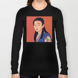 Side-look Long Sleeve T-shirt