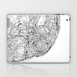 Lisbon White Map Laptop & iPad Skin