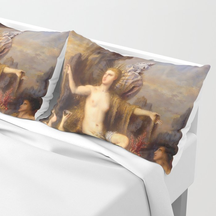 "Gustave Moreau ""Venus Rising from the Sea"" Pillow Sham"