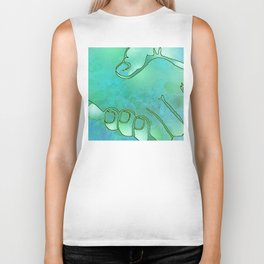 Cargiver Hands Blue and Green Harmony Biker Tank