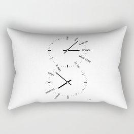 Two Watches Rectangular Pillow