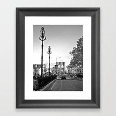 WHITEOUT : Brooklyn Bridge Framed Art Print