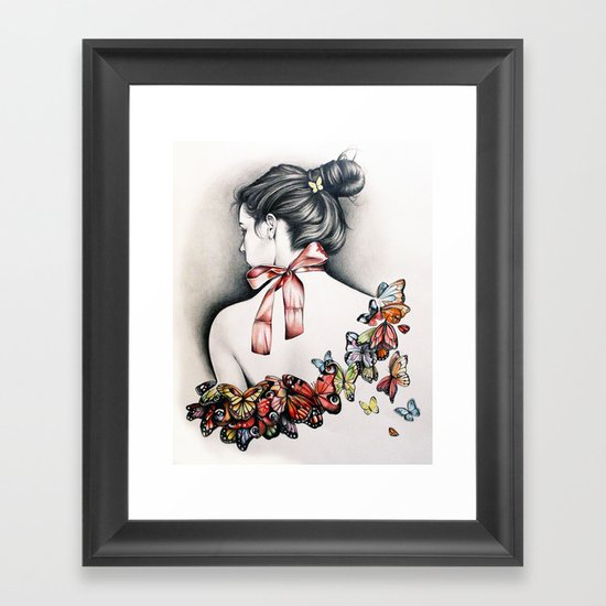 L'effet papillon Framed Art Print