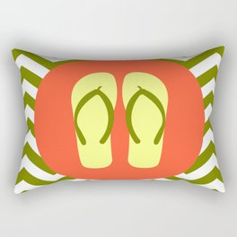Beach Sandals - Cute Summer Accessories Collection Rectangular Pillow