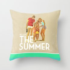 For The Summer Throw Pillow