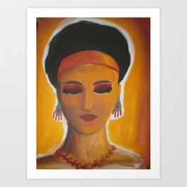 "Female Painting, ""Sun Goddess"" Art Print"