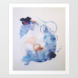 Spirit Map Oceans | Paper Study No. 17 Art Print