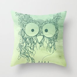 The Babybirds Owl 02 Throw Pillow