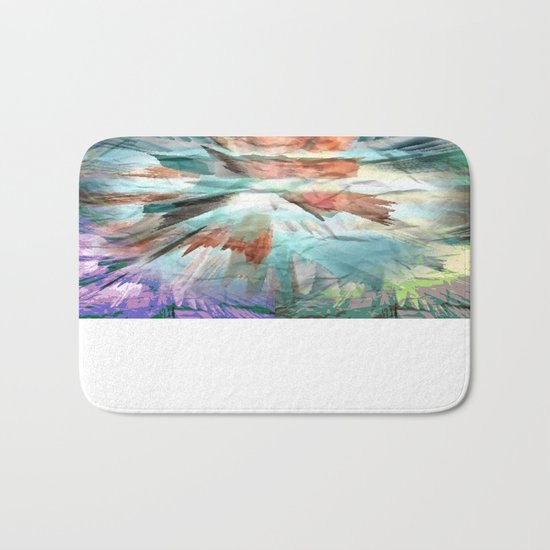 Paper Teal Splash Bath Mat