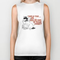 pulp fiction Biker Tanks featuring Fox by LullaBy D