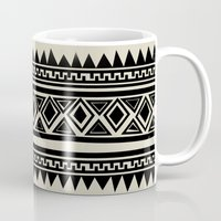 zebra Mugs featuring MALOU ZEBRA by Aztec
