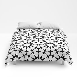 Arabesque in black and white Comforters