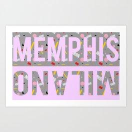 Memphis Milano Poster 1 Art Print