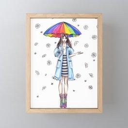 Raindrops Framed Mini Art Print