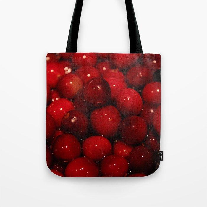 Cranberries Photography Print Tote Bag