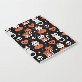 Halloween Kitties (Black) Notebook
