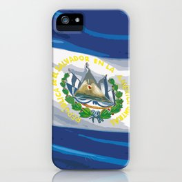 El Salvador Fancy Flag iPhone Case