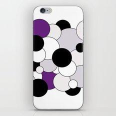 Bubbles - purple, black, gray and white iPhone & iPod Skin