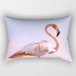 Flamingo and Unicorn Sky   Flamingo Photography   Ocean   Beach   Travel   Tropical   Landscape Rectangular Pillow