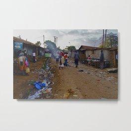 Kibera streets Metal Print