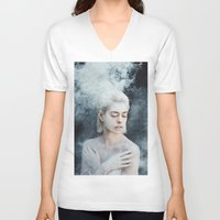 illusion V-neck T-shirts featuring Illusion by Jovana Rikalo