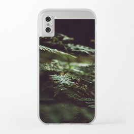 Fern in the shadow Clear iPhone Case