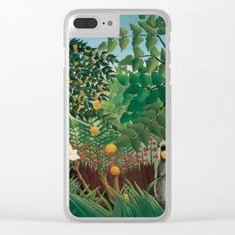 Henri Rousseau Exotic Landscape Clear iPhone Case