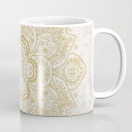 Mandala Temptation in Golden Yellow Coffee Mug
