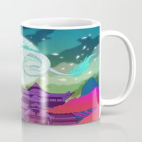 spirited away Mugs featuring Spirited Away by Jen Bartel