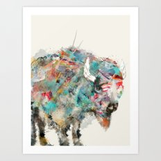into the wild the buffalo Art Print