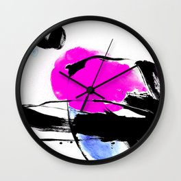Brush Dance No.602h by Kathy Morton Stanion Wall Clock