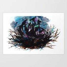 Two Ravens Art Print